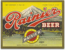 Rainier Beer label c.1934 - image