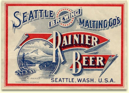 Rainier Beer label, Seattle c.1906 - image