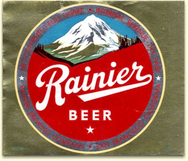 Rainier Beer label, c.1949 - image