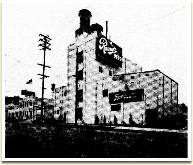 Newspaper image of Rainier's Los Angeles plant