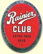 Rainier Club Extra Pale Beer label, c.1938  - image