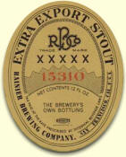 Rainier's Extra Export Stout label, c.1936 - image