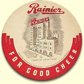 Rainier Beer coaster, SF, c.1941 - image