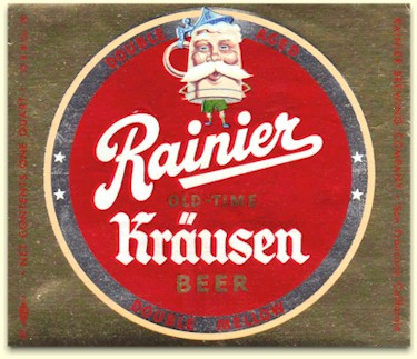Rainier Krausen beer label, c.1951 - image