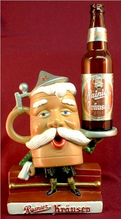 Rainier Krausen Beer, back-bar figurine, c.1951 - image