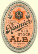 Rainier Old Stock Ale label, c.1936 - image