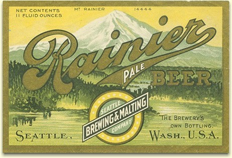 Rainier Pale Beer label, Seattle c.1906 - image