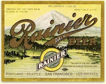 Rainier Pale, 1st Pre-Pro. strength beer, Jan. '34 - image