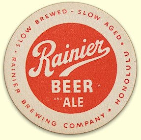 Rainier Beer & Ale coaster from Honolulu, c.1937 - image