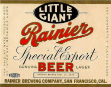 Rainier Special Export Stubby label