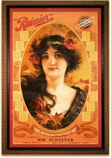 Rainier poster for 1909 - Wallace, ID - image