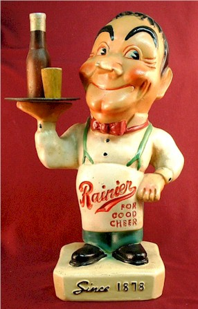 "Rainier 14"" waiter,  back-bar figurine, c.1941 - image"