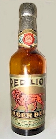 Red Lion Lager miniature bottle