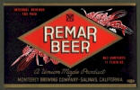 Remar Beer label - Salinas
