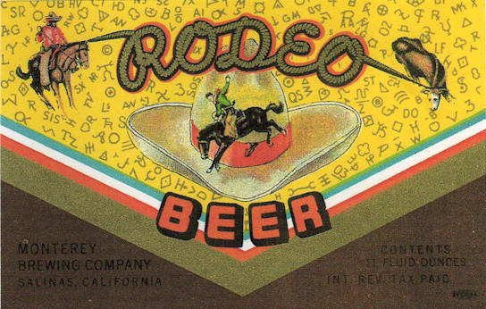 Rodeo Beer label, c.1938 - image