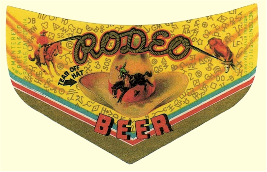 Rodeo Beer label - cheveron - image