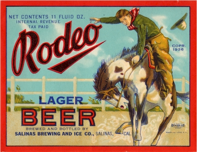 Rodeo Lager Beer label - image