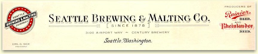 Seattle Brewing & Malting letterhead from 1938