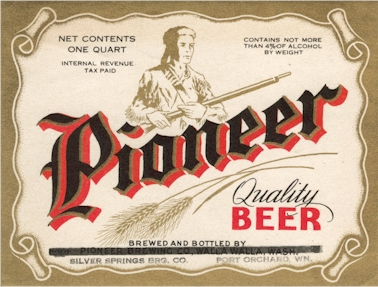 Pioneer Beer label, Port Orchard, WA - image