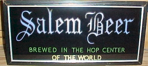 Lighted Salem Beer sign - image