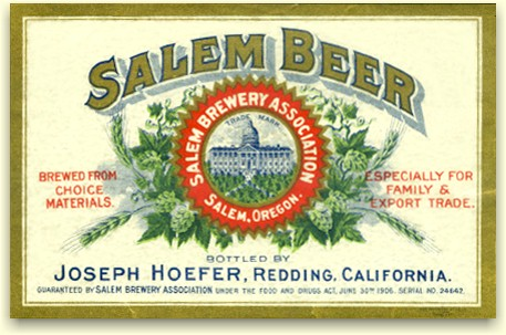 Salem Brewery's Redding, CA label