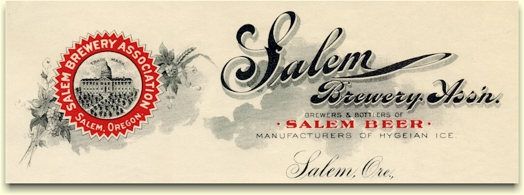 Salem Brewery Ass'n. letterhead