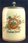 Salem Brewery Assn. beer stein, c.1904