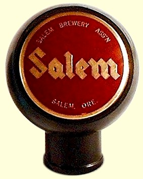 Salem Brewery Ass'n. ball tap knob