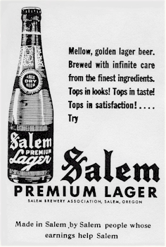 1940 ad for Salem Premium Lager - image
