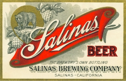 Salinas Beer label, c.1908 - image