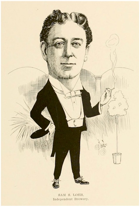 cartoon of Samuel S Loeb, c.1906 - image