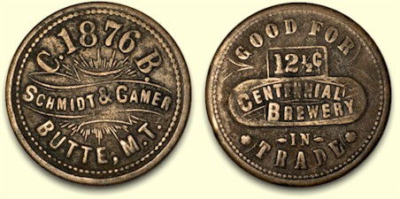 Schmidt & Gamer trade token 1876