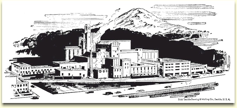 Drawing of Sicks' Brewery, c.1953