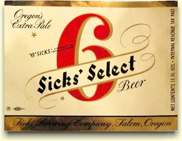 New Sicks' Select label ca.1949