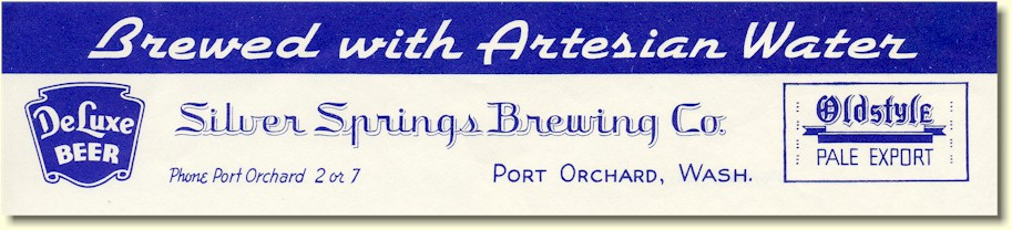 Silver Springs Brewing Co. letterhead - image