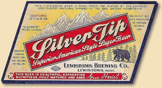Siver Tip American Lager label, Lewiston, ID