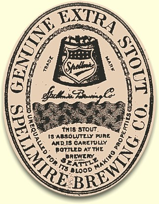 Spellmire's Genuine Extra Stout label c.1908