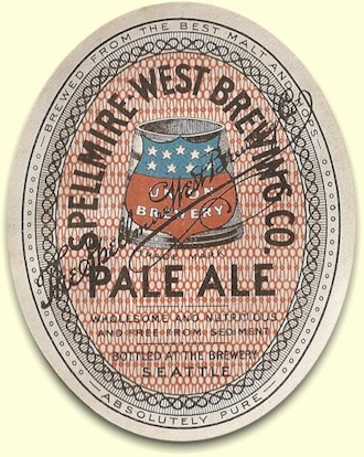 Spellmire-West's Pale Ale label, c.1905