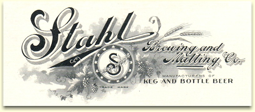 Stahl Brewing & Malting Co. letterhead