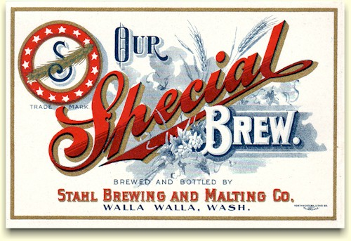 "Stahl's ""Special Brew"" label"