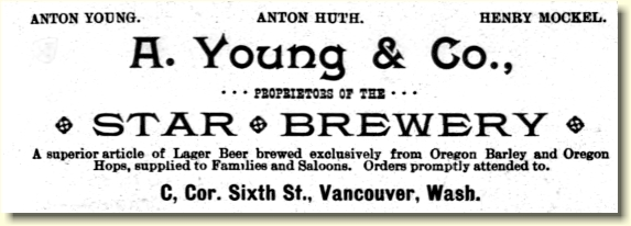 Star Brewery ad, ca.1890