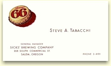 Steve Tabacchi's business card
