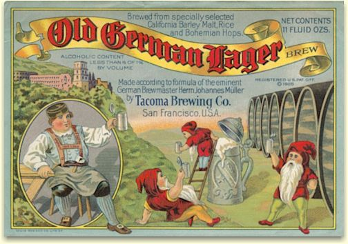 Tacoma Old German lager Brew label