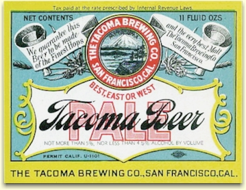 Tacoma Pale Beer label, c.1933 - image