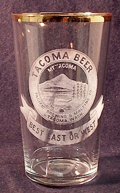 Tacoma Beer, etched glass - image