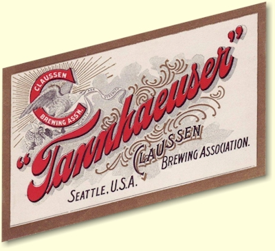 Tannheauser Beer label - image