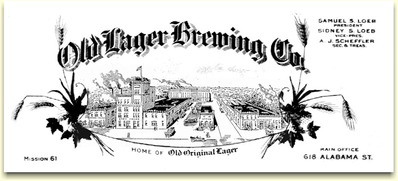 Old Lager Brewing Co. letterhead c.1918