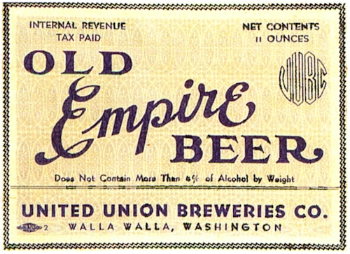 Old Empire Beer label, United Union Breweries, 1937 - image