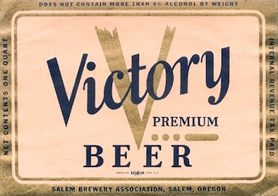 Salem Brewery's Victory Beer label - image