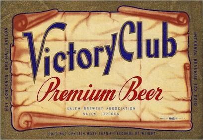Salem Brewery's Victory Club beer label